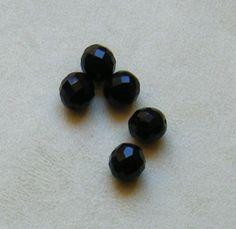 lotto  10  perline in mezzo cristallo  nero   da 12 mm., by crys e cry, 0,96 € su misshobby.com