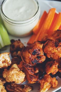 cauliflower wings 3 ways (vegan) | RECIPE on hotforfoodblog.com