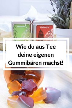 Just make gummy bears from tea yourself - Calista's dream - DIY Geschenke selber machen - Healt and fitness Making Gummy Bears, Birth Gift, Cupcakes, The Thing Is, Diy Food, Food And Drink, Low Carb, Presents, Sweets