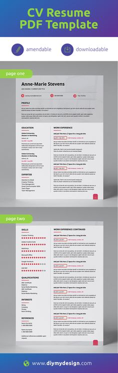 Downloadable PDF #Template  |  Professionally Designed  |  All Text is Amendable + Supports Multiple Alphabets |  Printable  You don't need to be a designer to have a great looking #Resume.  diy-my-design provides professional, pre-designed, amendable CV templates, and best of all, in PDF format, so you can easily and securely add or edit your own #CV content. #careers #jobs #hiring #jobsearch #employment #job #recruitment #career #work #resume #nowhiring #jobhunt #business #recruiting #hr