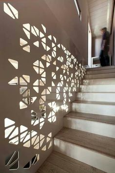 Amazing play of light on a circulation path. Laser cutting at its finest.