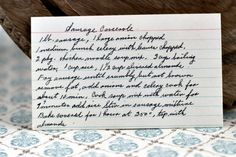 A classic vintage recipe from the files - Sausage Casserole
