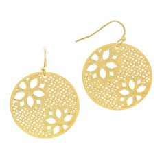 New Floral Filigree Earrings