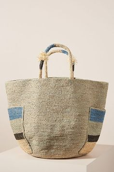 See what's new from Sans-Arcidet at Anthropologie and discover even more brands and designers you'll adore. Tote Handbags, Purses And Handbags, Leather Handbags, Woven Beach Bags, Crochet Midi Dress, Backpack Pattern, Crochet Handbags, Crochet Bags, Basket Bag