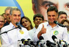 Aécio diz em Campo Grande que vai libertar o Brasil do PT | #AécioNeves, #Coletiva, #DilmaRousseff, #EmpateTécnico, #Petistas, #PSDB