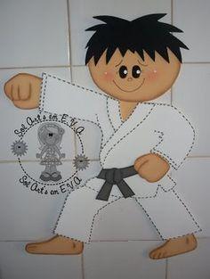 MOLDES DE E.V.A: LUTADOR DE CARATÊ!!!