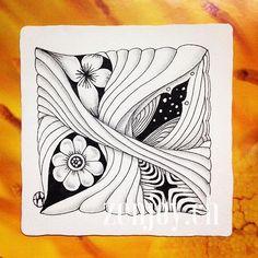 #zenjoy #zentangle #patterns #blackpen #inspiration