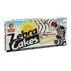 Zebra Little Debbie Cakes...this was what I was talking about for RyRy!