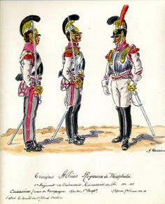 Westphalia 1st Regiment of Cuirassiers (King's Cuirassiers) 1810-1812. Figure on the right is an NCO