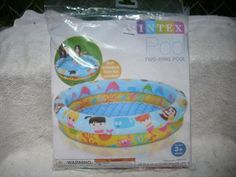 """Intex 48 X 10"""" 28 Gallon Soft Inflatable Two-Ring Kiddie Todd..."""