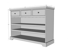 Furniture Guide For Minecraft Info: 2573905379 Furniture Deals, Diy Furniture, Office Furniture, Furniture Refinishing, Open Shelving, Shelves, Entryway Console, Console Tables, Ideas Para Organizar