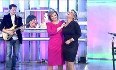 Mª Teresa y Terelu cantan juntas  http://www.telecinco.es/quetiempotanfeliz/actuaciones/Teresa-Terelu-cantan-juntas_2_1580280048.html