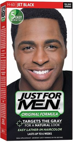 JUST FOR MEN Hair Color 60 Jet Black 1 Each (Pack of 4) * Continue to the product at the image link.