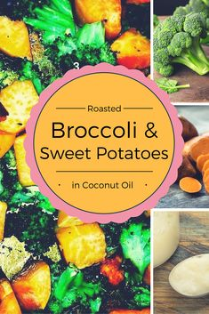 This week I am making the kid's favorite veggie side dish: Roasted Broccoli and Sweet Potatoes in Coconut Oil. It is very simple to make, but quite tasty! The coconut oil enhances the sweetness of the potatoes and roasting the broccoli gives it a nutty flavor. This can be paired with just about anything or could be a Vegetarian main course. Veggies for breakfast?  I also enjoy eating the left overs with scrambled eggs in the morning.