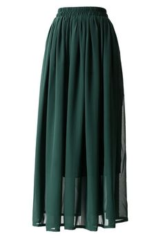 This maxi skirt has been crafted from chiffon fabric. Featuring flexible waistband, full length underskirt and accordion pleats through the main. The maxi skirt has been cut with a regular fit.-100% Polyester,lined Size(cm) Waist LengthS 65/70 95M 68/75&n...