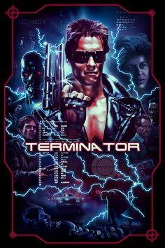 『ターミネーター』The Terminator Movie Poster Madness - Poster Artworks A-Z Best Movie Posters, Classic Movie Posters, Horror Movie Posters, Cinema Posters, Movie Poster Art, Film Posters, Sci Fi Films, Cult Movies, Arnold Schwarzenegger Movies