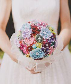 beaded flower brooch bouquet