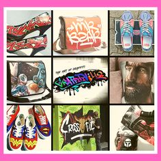 Graffitiville is taking art off the walls and making it personal items. We create original hand painted (nothing printed), 1 of 1, slingbags, laptop bags, scatter cushions and art on apparel. (Sneakers, high heels, jackets, caps, etc.) Our bags and cushions are proudly South African, manufactured in Gauteng. We work with some of the top graffiti artists in South Africa who create exquisite original art pieces for us.  Please visit our website www.graffitiville.co.za to view our products and… Drake Artist, Graffiti Tagging, Handmade Cushions, Graffiti Artists, Passion Project, Meet The Artist, First Art, South Africa, Art For Kids