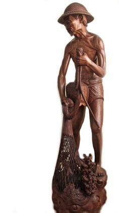 Statue Balinaise en bois | Balinese statue in wood