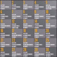 30 Days Workout Challenge! :)