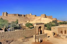 """KOT DIJI FORT"" at Kot Diji, formally known at Fort Ahmedabad, dominates the town of Kot Diji at Khairpur District, Pakistan. The fort was built between 1785-1795 by Mir Sohrab Khan Talpur, founder of the kingdom of Upper Sindh in 1783. Fort is situated at the edge of Rajisthan desert & 25kms away from Indus River."