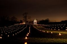 Antietam Battlefield Illumination - one candle for each person who died (23,000 died that day)