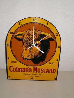 Colman's Mustard emaille klok