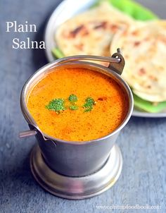 Roadside hotel style parotta salna recipe which is popularly known as plain salna, empty salna and tomato salna recipe in Tamil nadu. Thai Recipes, Indian Food Recipes, Gourmet Recipes, Cooking Recipes, Healthy Recipes, Cooking Videos, Curry Recipes, Lunch Recipes, Fall Recipes