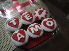 Cupcakes para el día del Amor y Amistad Creaciones Reina Sofia Ciudad Ojeda