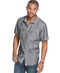 Marc Ecko Cut & Sew Shirt, Lafayette Short Sleeve Shirt - Mens Casual Shirts - Macy's