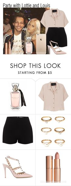 """""""Party with Lottie and Louis"""" by tommo-14 ❤ liked on Polyvore featuring Rachel Comey, Alexander McQueen, Forever 21, Valentino and Charlotte Tilbury"""