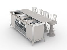 CANOPO Electric outdoor kitchen by Samuele Mazza Outdoor Collection by DFN…