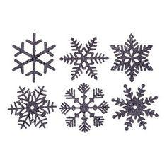 "Vickerman M117322 5"" Sea Blue Glitter Snowflake 6 Asst/Box, Snowflake Ornament #Christmas"