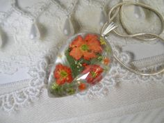 Peach VerbenaYellow-Lime-Orange Queen Anne's by giftforallseasons