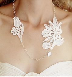 Lace necklace - DIY idea