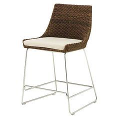 McGuire Furniture: Woven Shelter Bar Stool: No. O-409T