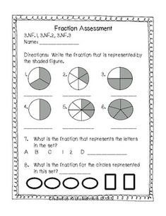 math worksheet : 1000 images about 3rd grade math on pinterest  multiplication  : Fraction Test Worksheet