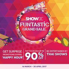 โปรโมชั่น Show DC SHOW DC FUNtastic Grand Sale ลดสูงสุดถึง 90% และโชว์สุดพิเศษอีกมากมาย (วันนี้ -30 เม.ย 60)   SHOW DC FUNtastic Grand Sale 🎈🛍😍 สนุกไปกับการช้อปปิ้งพร้อมโปรโมชั่นลดสูงสุดถึง 90% และโชว์สุดพิเศษอีกมากมาย ยก
