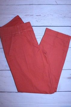 J.Crew Pants 0 Orange Lightweight Classic Fit Cropped Ankle Career Chino Pants #JCrew #KhakisChinos