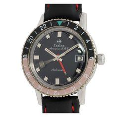 8d2fdcfb2ec9 Zodiac Stainless Steel Aerospace GMT Wristwatch circa 1960s