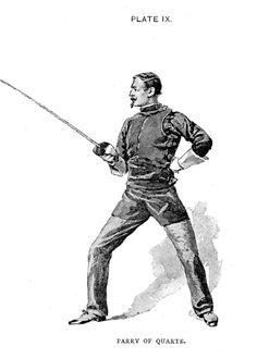 Hutton - Saber Parry in Quarte