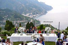 Matrimonio all'aperto in costiera. Belmond Hotel Caruso a Ravello.