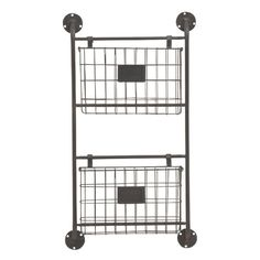 Make your favourite wall functional as well as decorative by mounting this metal wall storage rack there. It is made of quality supplies and will last in prime condition for the coming years. This 2 tier wall storage rack will offer a smart way to store your essentials. They have mesh baskets which can be used to keep items like papers, books or files. Ideal for living room, study or kitchen. You can also use this wall storage rack in the outdoors, make it a part of your veranda or garden…