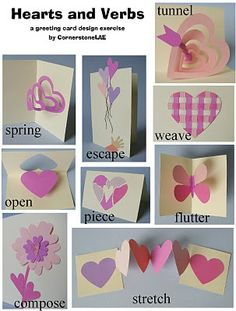 What a great combination - cards based on a verb. CornerstoneLAE: Pop-up cards