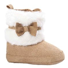 Nation Baby Bowknot Keep Warm Soft Sole Snow Boots Soft Crib Shoes Toddler  Boots Khaki). brand new and high quality. Soft material makes baby feel  very warm ... 8e73c4d18e63e
