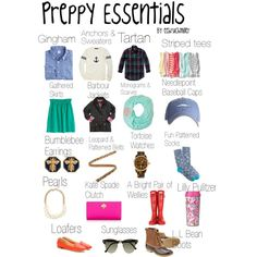 """Preppy essentials"" by eebruchmiller on Polyvore"