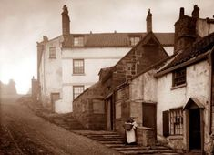 Bay Bank, Robin Hoods Bay Ref: Frank Meadow Sutcliffe Whitby England, Yorkshire England, North Yorkshire, Old Images, Old Pictures, Old Photos, Victorian London, Victorian Photos, Beautiful Places In England