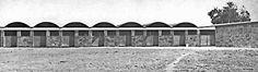 Granja Lechera, Zumpango, Estado de México, México 1953    Arqs. Guillermo Rossell y Lorenzo Carrasco    Fotos: Tom Murphy -    Dairy Farm,Zumpango, State of Mexico, Mexico 1953