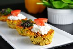 These easy and savory, healthy tofu muffins are a great alternative to egg muffins. Tofu, Tempeh, Healthy Savoury Muffins, Healthy Breakfast Recipes, Sin Gluten, Muffins Sains, 185, Baking Muffins, Those Recipe