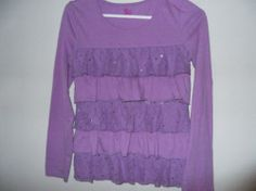 SO brand girls size 16 long sleeved purple top